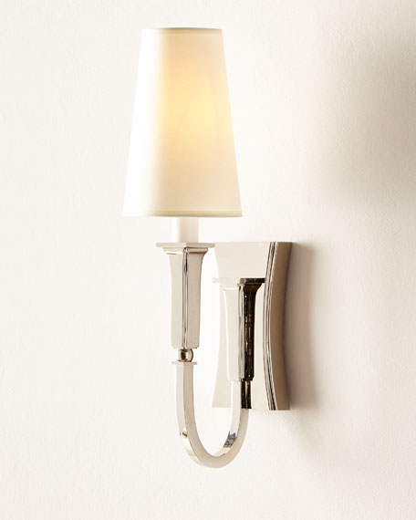 Image 2 of 2: Thomas O'Brien Delphia Small Single Sconce