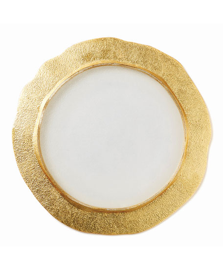 Vietri Rufolo Glass Organic Charger, Gold