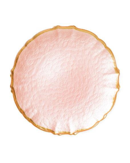 Vietri Pastel Glass Salad Plate, Pink