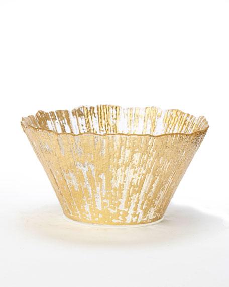 Vietri Rufolo Glass Small Deep Bowl, Gold