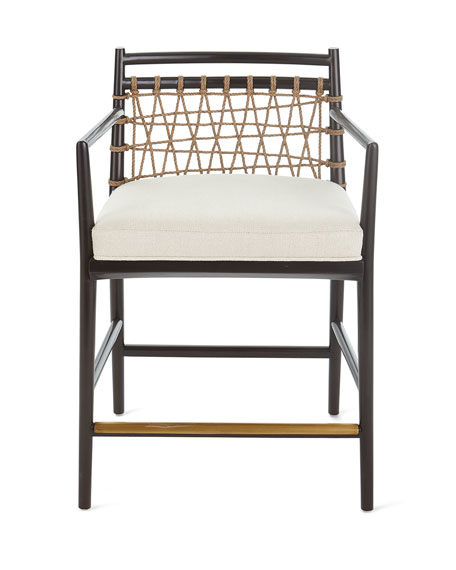 Palecek Lucilla Upholstered and Jute Counter Stool