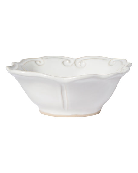 Vietri Incanto Stone Baroque Cereal Bowl, White