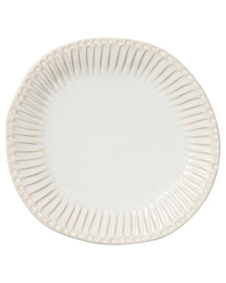 Vietri Incanto Stone Stripe Dinner Plate, Linen