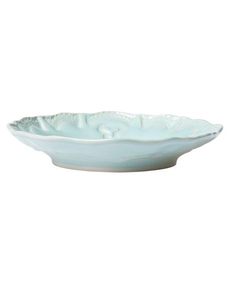 Vietri Incanto Stone Lace Pasta Bowl, Aqua