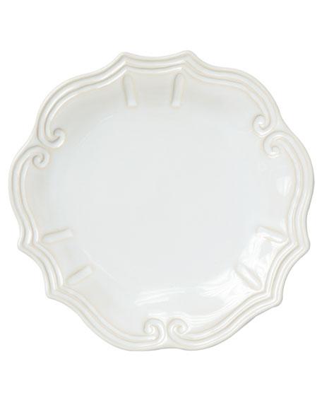 Vietri Incanto Stone Baroque Dinner Plate, Linen