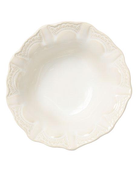 Vietri Incanto Stone Lace Cereal Bowl, Linen