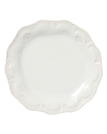 Vietri Incanto Stone Lace Salad Plate, Linen