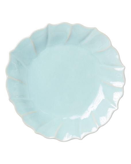 Vietri Incanto Stone Ruffle Salad Plate, Aqua