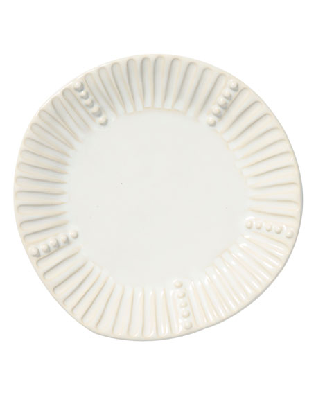 Vietri Incanto Stone Stripe Salad Plate, Linen