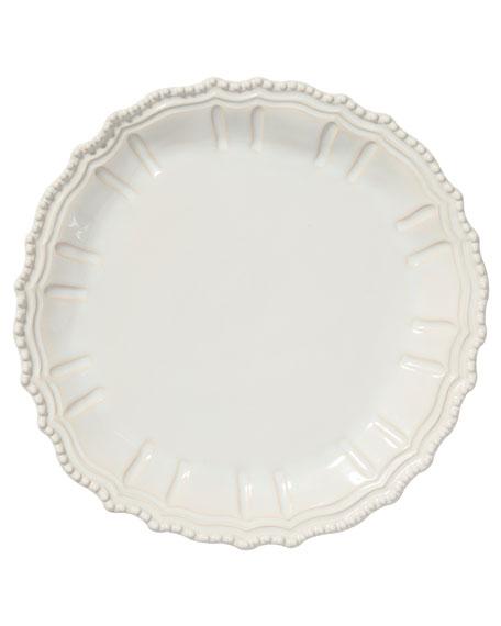 Vietri Incanto Stone Baroque Round Platter, Linen