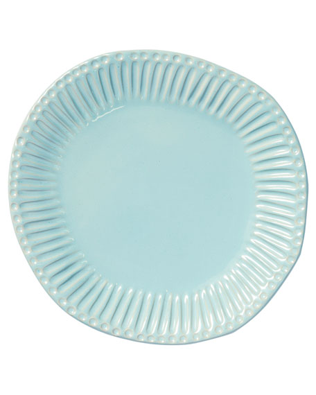 Vietri Incanto Stone Stripe Dinner Plate, Aqua