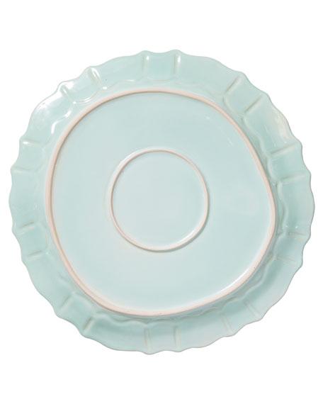 Vietri Incanto Stone Baroque Round Platter, Aqua