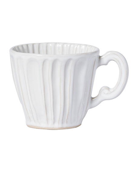 Image 2 of 2: Vietri Incanto Stone White Stripe Mug