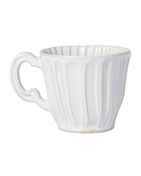Image 1 of 2: Vietri Incanto Stone White Stripe Mug