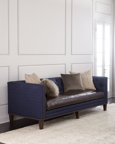 Ivy Leather-Seat Sofa 90