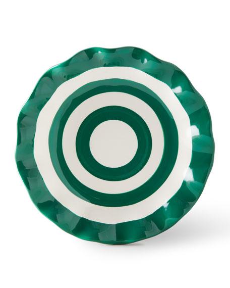 Coton Colors Spot On Ruffle Salad Plates, Set of 4