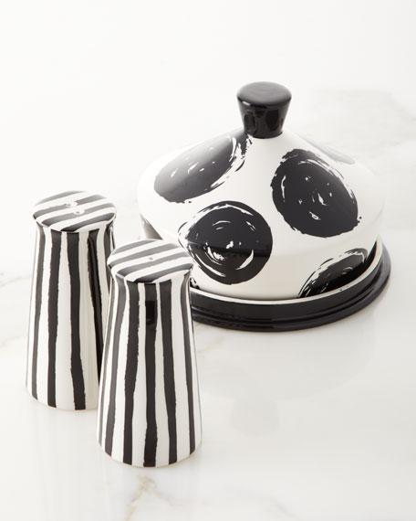 Coton Colors Deco Pedestal Salt and Pepper Shakers