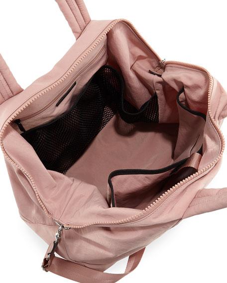 Washed Nylon Weekender Duffel Bag