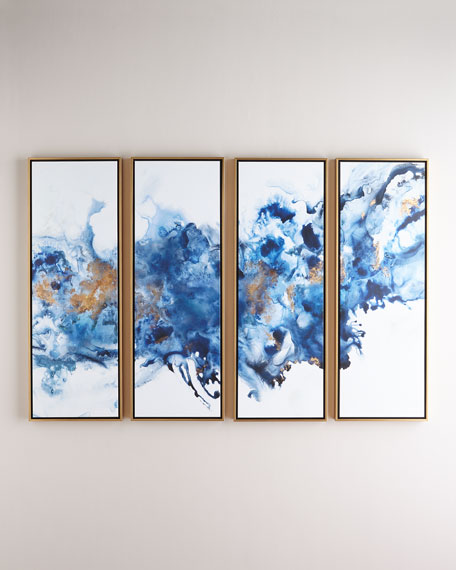 Blue Lagoon Gicl??es, Set of 4