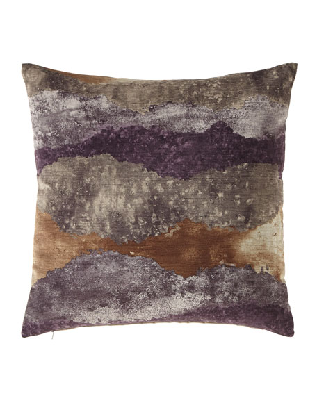 Mist Amethyst Knife-Edge Pillow