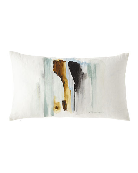 Eastern Accents Hand-Painted Breeze Shell Lumbar Pillow