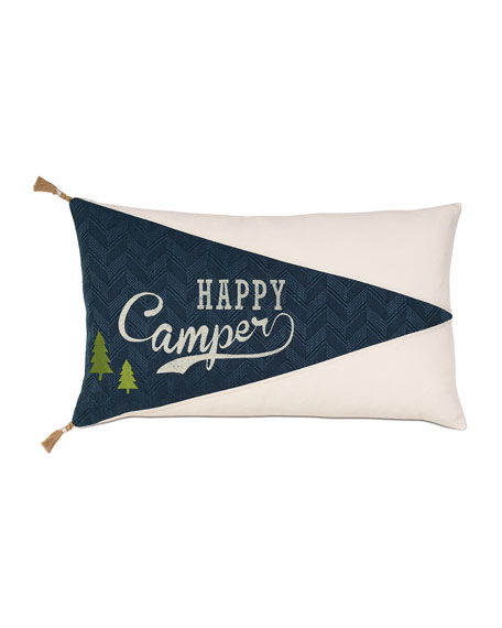 Eastern Accents Scout Happy Camper Decorative Pillow