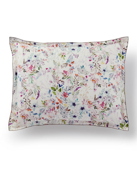 Peacock Alley Chloris Floral King Sham