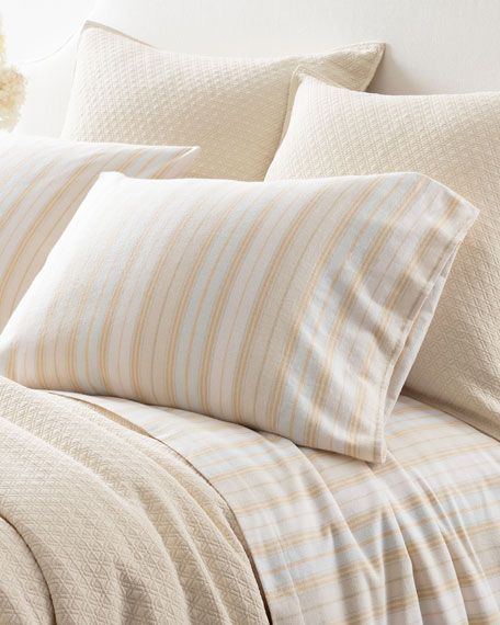 Shelburne Stripe Flannel Full Sheet Set