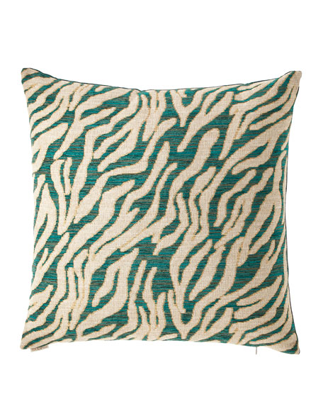 Kenya Emerald Chenille Jacquard Pillow