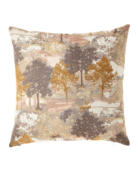 D.V. Kap Home Sycamore Metallic Jacquard Pillow and