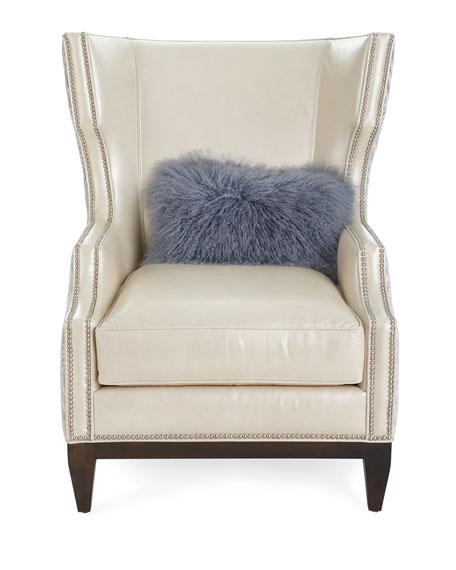 Massoud Akissa Leather Wing Chair