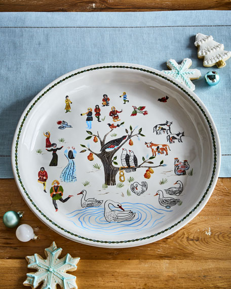 "Twelve Days of Christmas Platter, 15""Dia."