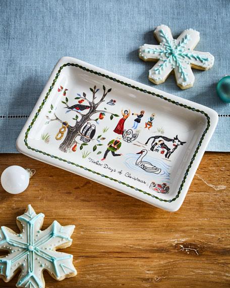 Twelve Days of Christmas Trinket Tray