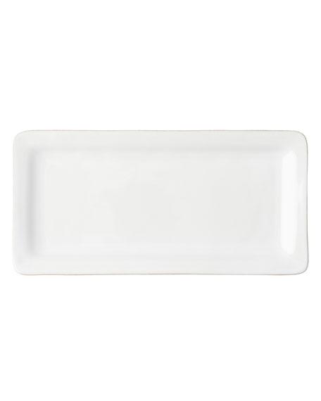 Puro Whitewash Rectangular Appetizer Platter