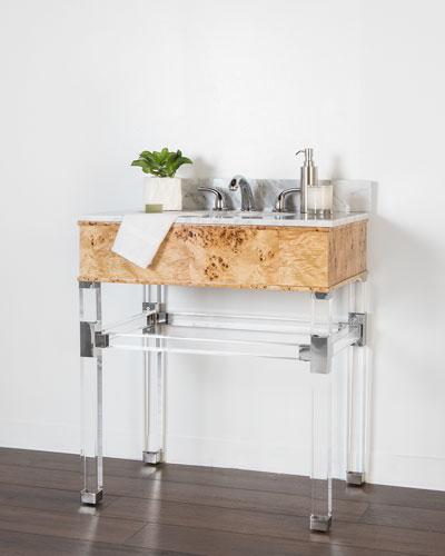 Hodges Marble-Top Bath Vanity with Sink