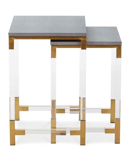 Corban Acrylic Nesting Tables