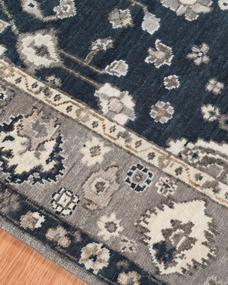 Bluestar Hand-Knotted Rug, 6' x 9'