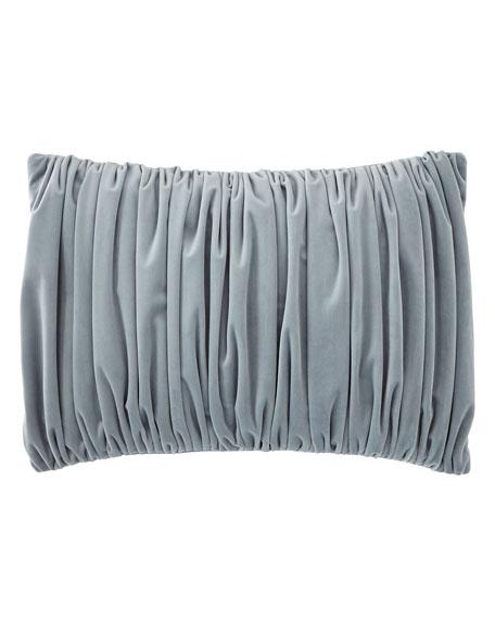 Fino Lino Linen & Lace Florence Velvet Oblong Pillow