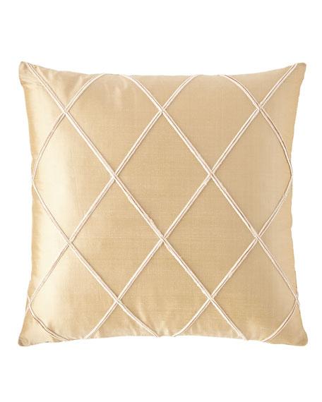 "Austin Horn Collection Celia Pillow, 18""Sq."