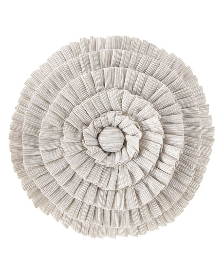 Austin Horn Collection Novette Pleated Round Pillow