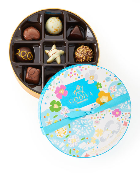 Godiva Chocolatier 9-Piece Round Summer Gift Box