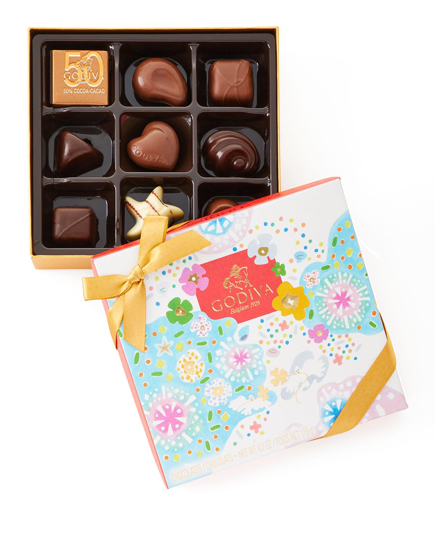 1733f096fdff Godiva Chocolatier 12-Piece Square Summer Gift Box and Matching ...