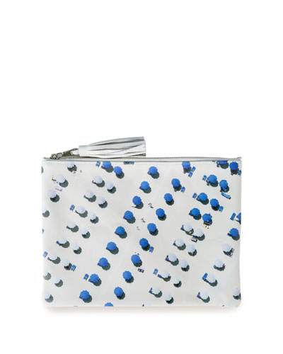 The Blue and White Umbrellas Pouch