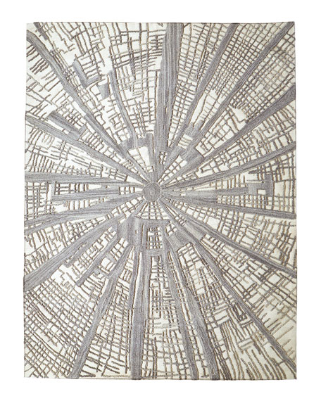Global Views Carine Hand-Tufted Rug, 5' x 8'