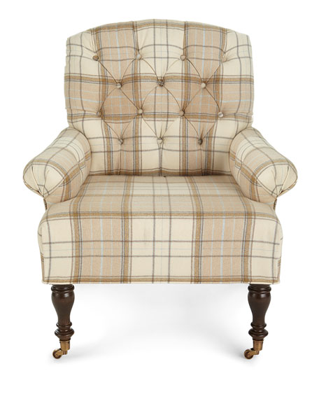 Image 3 of 4: Massoud Traynor Tufted Chair