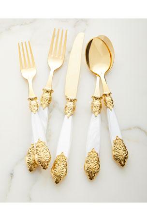Neiman Marcus 20-Piece Versailles Gold Flatware Service