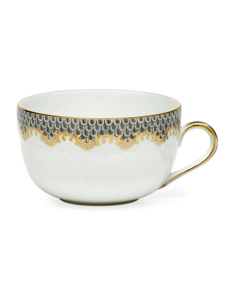 Herend GRAY FISHSCALE CANTON CUP