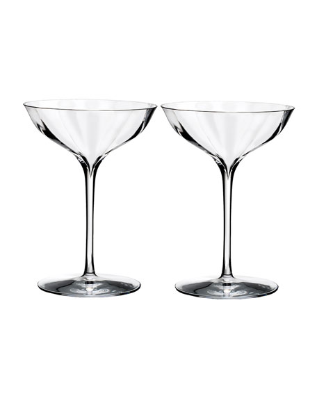 Waterford Crystal Elegance Optic Belle Coupe, Set of 2