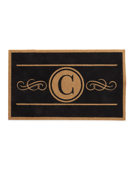 Custom Scroll Monogram Mat, 3' x 5'