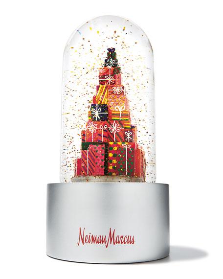 Neiman's Stacked Presents Snow Globe